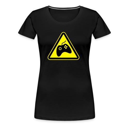 Women's Premium T-Shirt - Large logo front (BLACK) - Women's Premium T-Shirt