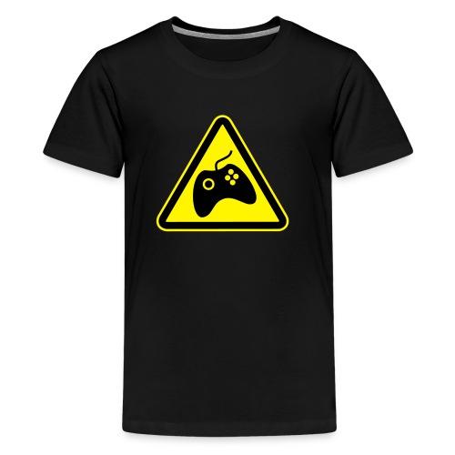 Teenage Premium T-Shirt - Large logo front (BLACK) - Teenage Premium T-Shirt