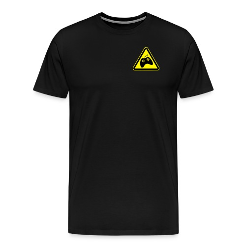Men's Premium T-Shirt - Small logo front + Large back (BLACK) - Men's Premium T-Shirt