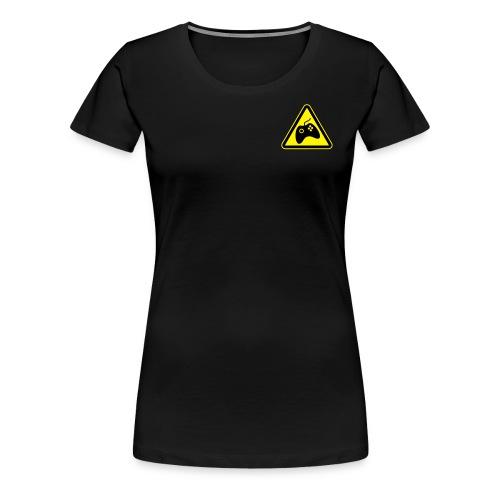 Women's Premium T-Shirt - Small logo front + Large back (WHITE) - Women's Premium T-Shirt