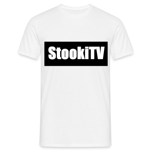StookiTV | WHITE & Black - Men's T-Shirt