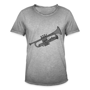 Trompete Blechblasinstrument 2 - Männer Vintage T-Shirt