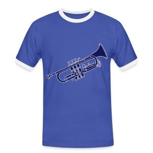 Trompete Blechblasinstrument 2 - Männer Kontrast-T-Shirt