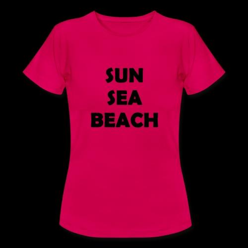 Sun Sea Beach - T-Shirt Women - T-shirt Femme