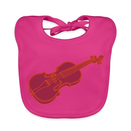 Violine  / Geige 2 - Baby Bio-Lätzchen