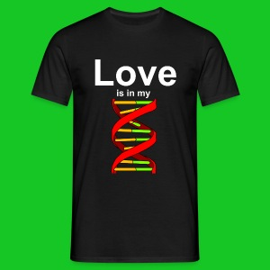 Love is in my DNA heren t-shirt - Mannen T-shirt