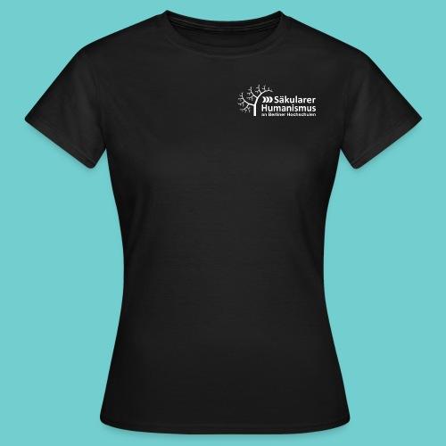 Girlie-Shirt: Logo weiß - Frauen T-Shirt