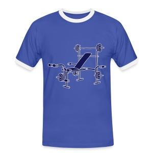 Hantelbank Bodybuilding 2 - Männer Kontrast-T-Shirt