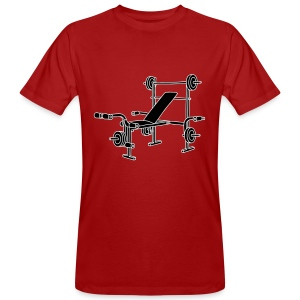 Hantelbank Bodybuilding 2 - Männer Bio-T-Shirt