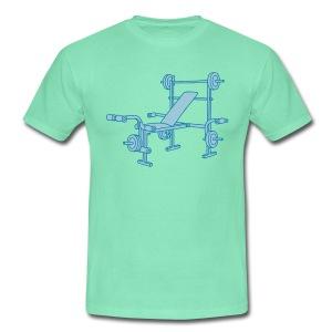 Hantelbank Bodybuilding 2 - Männer T-Shirt