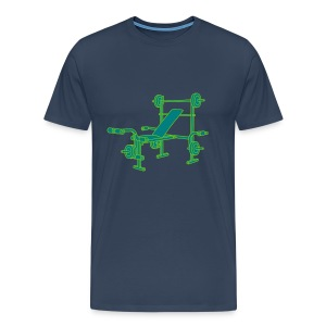 Hantelbank Bodybuilding 2 - Männer Premium T-Shirt