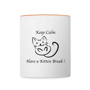 Tasse bicolore Nuréa : Kitten Break - Tasse bicolore