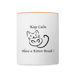 Tasse bicolore Nuréa : Kitten Break - Tasse bicolore
