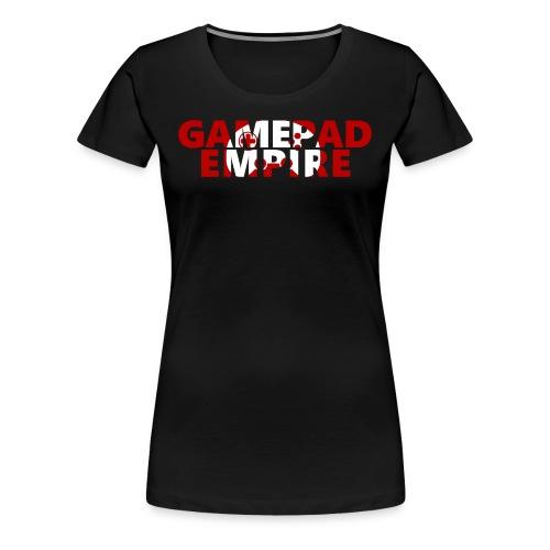 T-Shirt (Frauen) mit Schriftzug und Logo - Frauen Premium T-Shirt