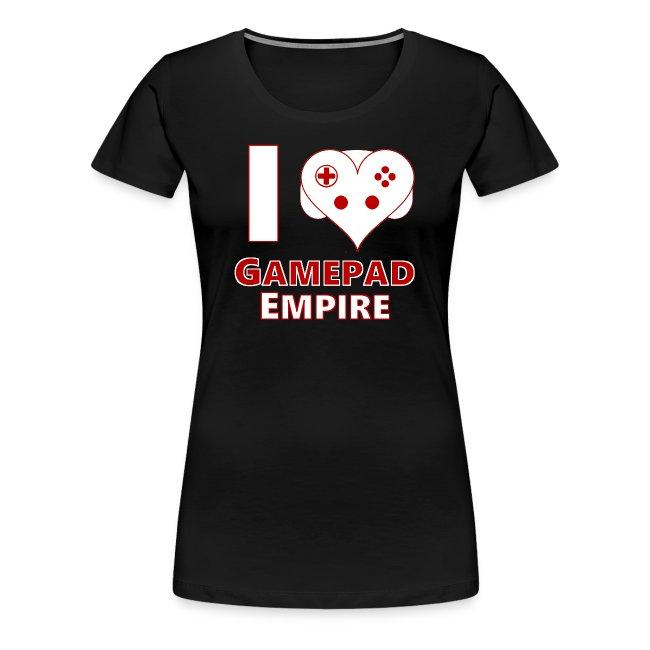 """T-Shirt (Frauen) mit """"I ♥ GPE""""-Design"""