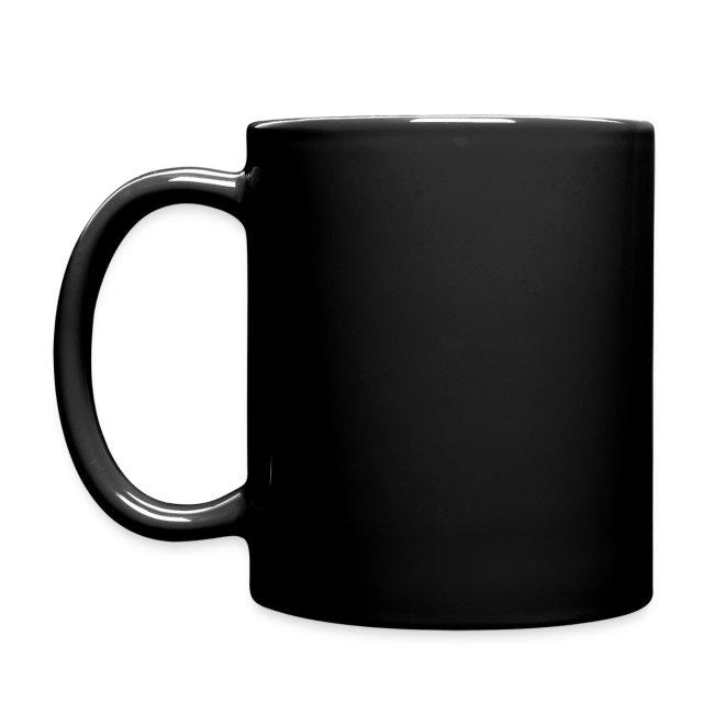 Tasse mit Schriftzug und Logo
