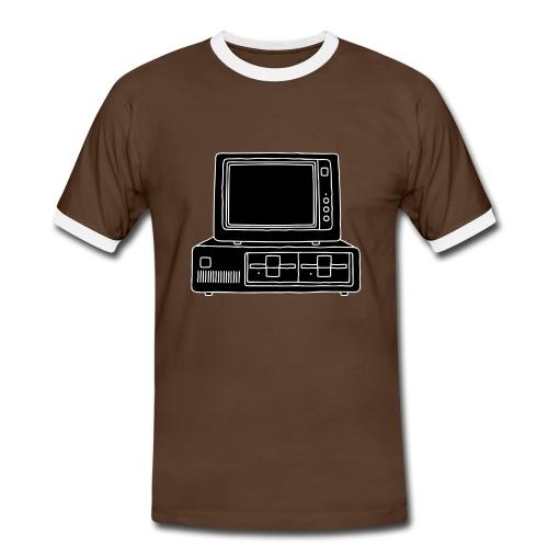 Computer PC 2 - Männer Kontrast-T-Shirt