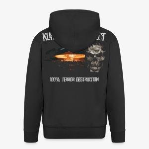 Kurwastyle Project - 100% Terror Destruction Zip Hoodie - Men's Premium Hooded Jacket