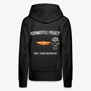 Kurwastyle Project - 100% Terror Destruction Women's Hoodie - Women's Premium Hoodie