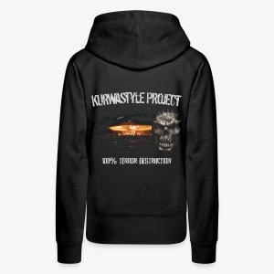 Kurwastyle Project - 100% Terror Destruction Women's Hoodie - Women's Premium Hoodie