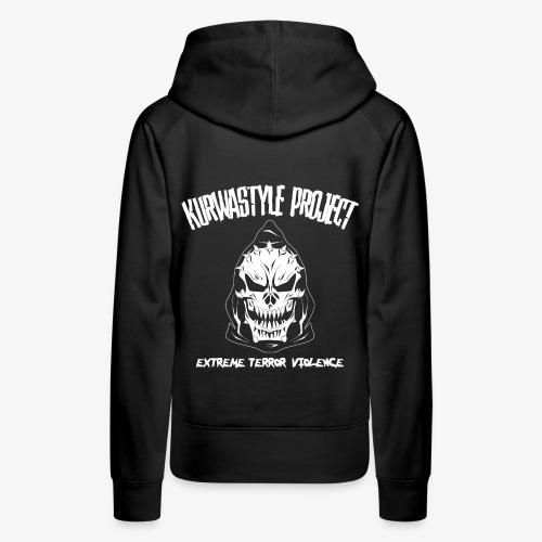 Kurwastyle Project - Extreme Terror Violence Women's Hoodie - Women's Premium Hoodie