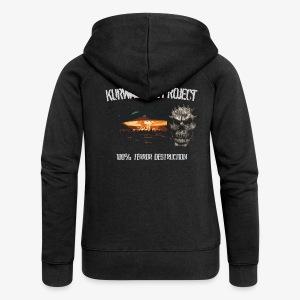 Kurwastyle Project - 100% Terror Destruction Women's Zip Hoodie - Women's Premium Hooded Jacket
