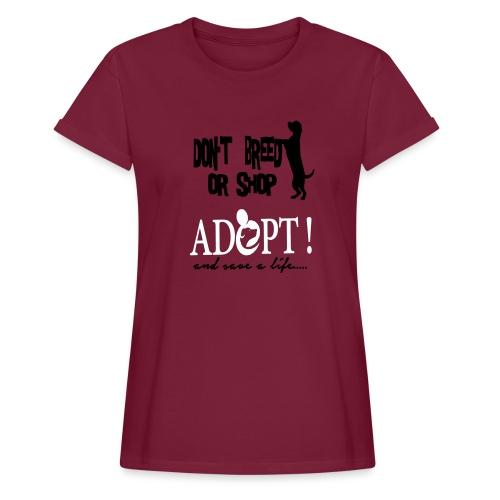 ACTIVE FRIENDS ADOPT - Frauen Oversize T-Shirt