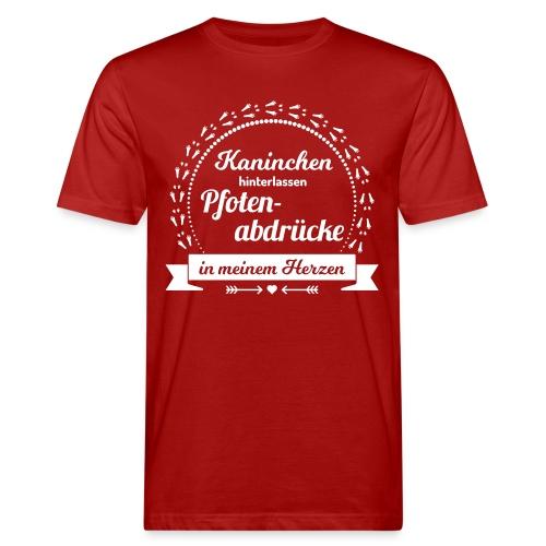 Pfotenabdrücke - Männer Bio-T-Shirt