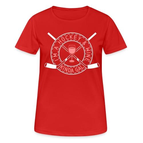 I'm A Hockey & Wine Kinda Gal Breathable T-Shirt - Women's Breathable T-Shirt