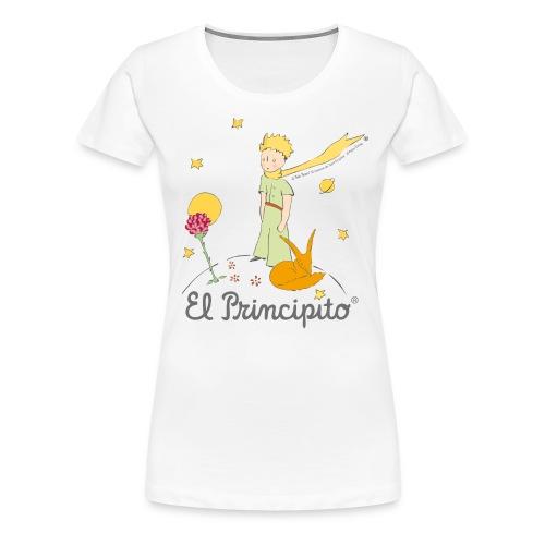 Der kleine Prinz mit Fuchs und Rose - Frauen Premium T-Shirt