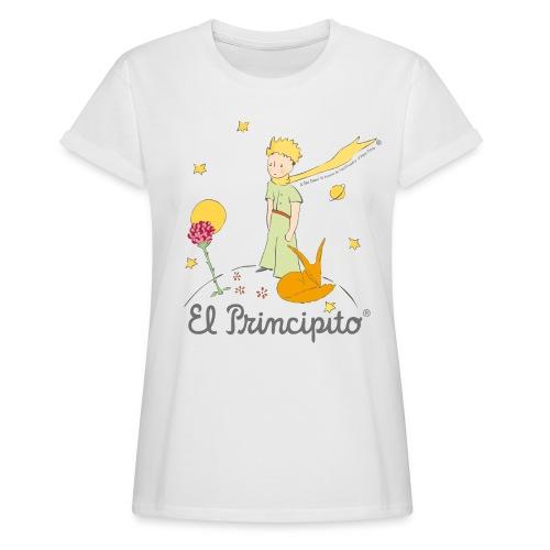 Der kleine Prinz mit Fuchs und Rose - Frauen Oversize T-Shirt