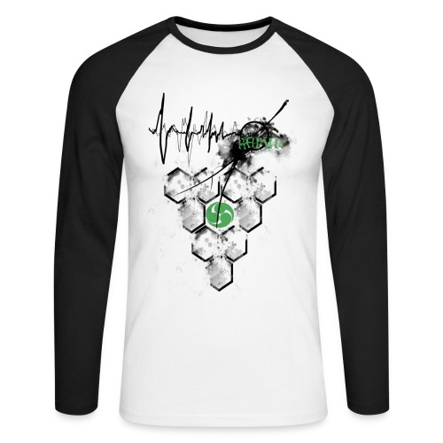 Raijin Hero-Heartbeat - Männer Baseballshirt langarm