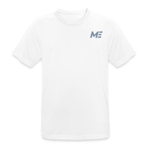 ME Mens Performance Shirt white/silver metallic - Männer T-Shirt atmungsaktiv