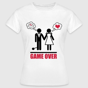 Game over stag do hen party night bachelor Magliette - Maglietta da donna