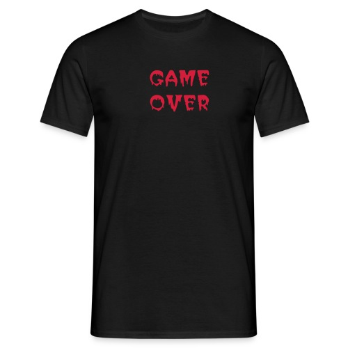 Game over + au dos- Try again - T-shirt Homme