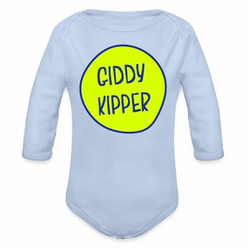 Giddy Kipper Babygrow - Organic Longsleeve Baby Bodysuit