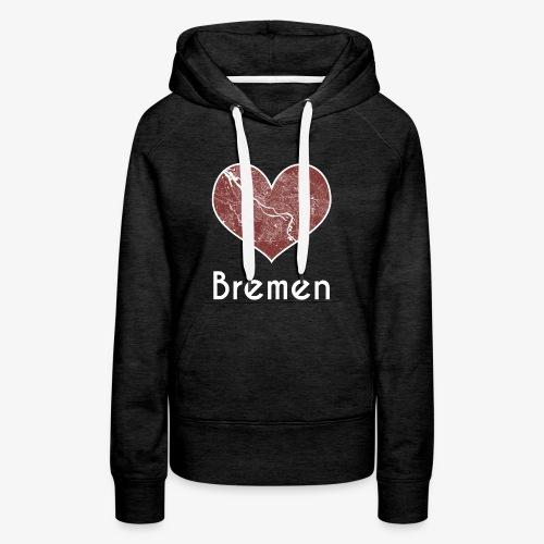 Damen Hoodie Bremen / Herz Rot - Frauen Premium Hoodie