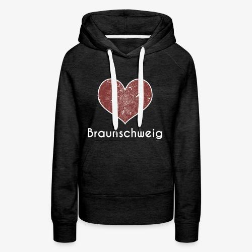 Damen Hoodie Braunschweig / Herz Rot - Frauen Premium Hoodie