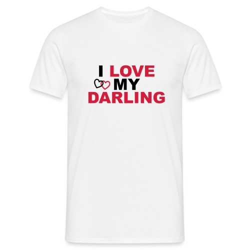 I LOVE MY DARLING MAN - Männer T-Shirt