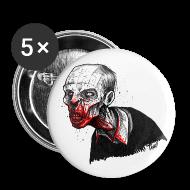 Buttons & Anstecker ~ Buttons klein 25 mm ~ Zombie Button