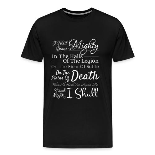 Legion Motto - Gryphon Knight - Men's Premium T-Shirt