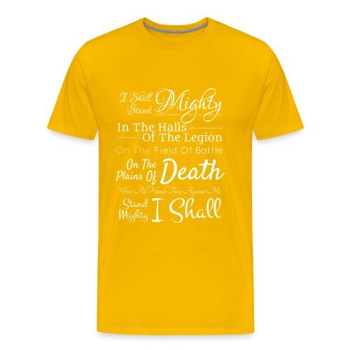 Legion Motto - Lion Knight - Men's Premium T-Shirt