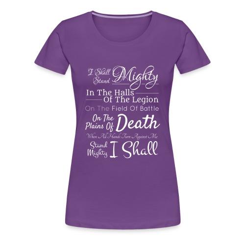 Legion Motto - Imperial Birthright - Women's Premium T-Shirt