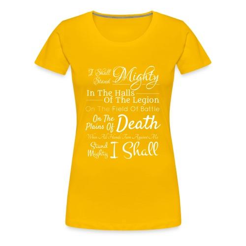 Legion Motto - Lion Knight - Women's Premium T-Shirt