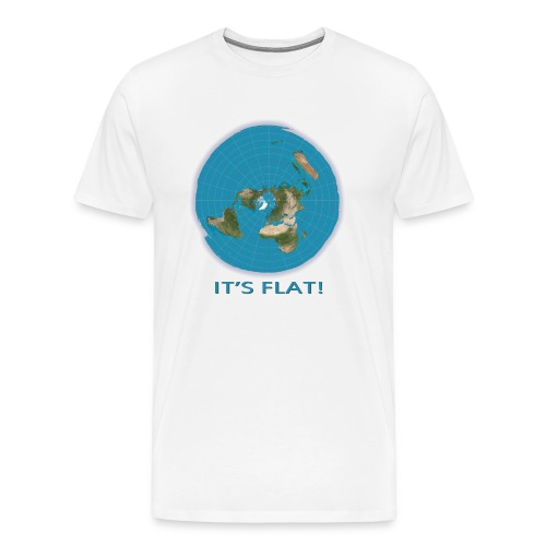 Flat Earth Tee - Men's Premium T-Shirt