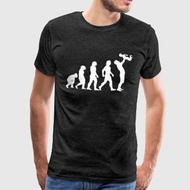Évolution Du Singe Au Papa - T-shirt Premium Homme