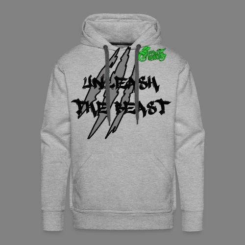 Sweat Gris - Vert - Sweat-shirt à capuche Premium pour hommes