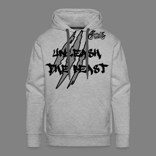 Sweat Gris - Noir - Sweat-shirt à capuche Premium pour hommes