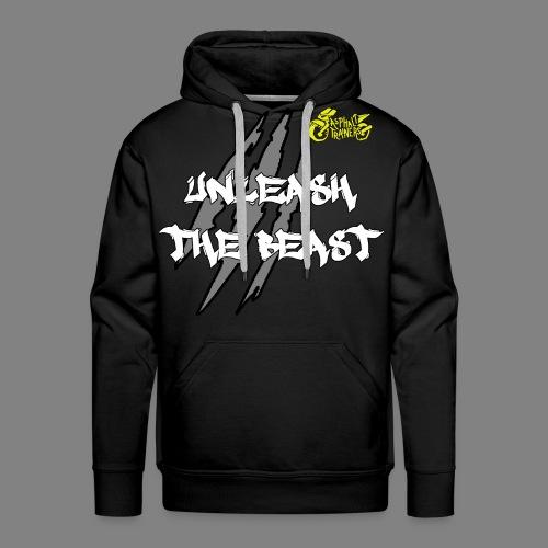 Sweat Noir - Jaune - Sweat-shirt à capuche Premium pour hommes