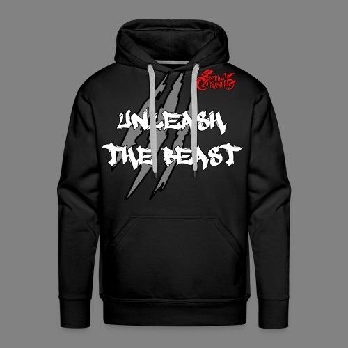 Sweat Noir - Rouge - Sweat-shirt à capuche Premium pour hommes